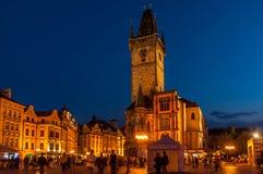 Vieille place à Prague, République Tchèque Photographie stock libre de droits