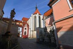 Vieille place de Budweis Photos libres de droits