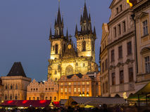 Vieille place de Prague à Noël Photo libre de droits