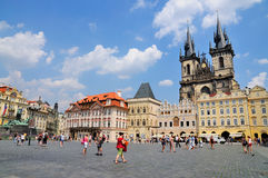 Vieille place, Prague photo stock