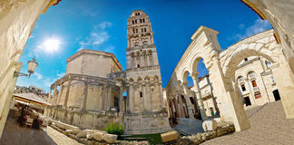 Vieille place romaine d'Ancien dans la fente Photos libres de droits