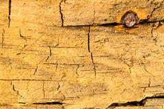 Vieille planche avec la texture et le trou Images libres de droits