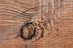 Vieille planche texturisée rugueuse criquée nouée - détail Photographie stock