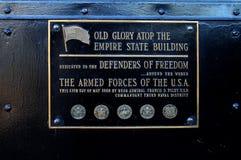 Vieille plaque de gloire Photos libres de droits