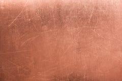 Vieille plaque de métal, cuivre balayé de texture, fond en bronze photos stock