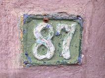 Vieille plaque de rue 87 Image libre de droits