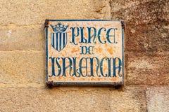 Vieille plaque de rue, Vannes, France image libre de droits