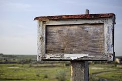 Vieille plaque en bois Photo stock