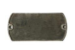 vieille plaque en métal Photos libres de droits