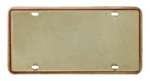Vieille plaque minéralogique Image stock