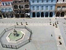 Vieille plaza de La Havane Images libres de droits