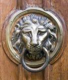 Vieille poignée comme tête de lion Image libre de droits