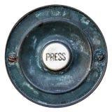 Vieille porte Bell antique victorienne d'isolement Photos stock