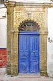 Vieille porte bleue Photos libres de droits