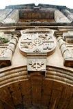 Vieille porte coloniale espagnole de fort Image libre de droits