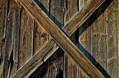 Vieille porte d'écurie de ranch Images libres de droits