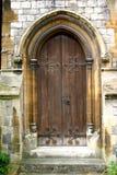 Vieille porte d'église Photographie stock libre de droits