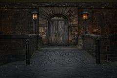 Vieille porte de château Images libres de droits