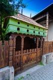 Vieille porte de rue faite main de la Transylvanie 1 Photos libres de droits