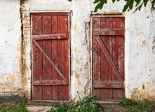 Vieille porte en bois Photo libre de droits
