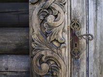 Vieille porte en bois Images libres de droits