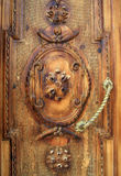 Vieille porte en bois, Arménie. Image libre de droits