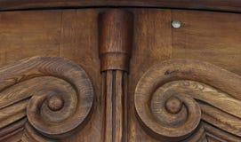 Vieille porte en bois brune de vintage avec des modèles Fond Tamplete Images libres de droits