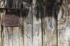 Vieille porte en bois comme fond Photos stock