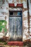 Vieille porte en bois en détail Images libres de droits
