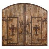 Vieille porte en bois fermée Photos libres de droits