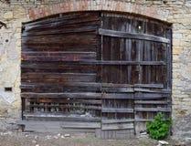 Vieille porte en bois, ruine Photo libre de droits