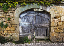 Vieille porte en bois rustique Photo libre de droits