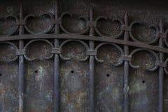 Vieille porte en métal Image libre de droits