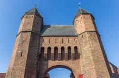 Vieille porte Kamperbinnenpoort de ville à Amersfoort Image libre de droits