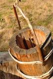 Vieille position en bois image stock