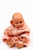 Vieille poupée modifiée borgne images stock