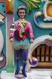 Vieille poupée néerlandaise en bois d'organe de baril photo stock