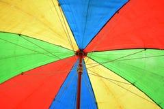 Vieille pousse colorée de parapluie de dessous Images libres de droits