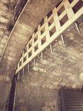 Vieille pousse de portes de ville dans la sépia Photo libre de droits