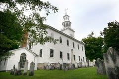 Vieille première église de Bennington image libre de droits