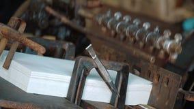 Vieille presse typographique de vintage clips vidéos