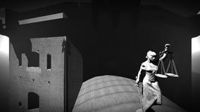 Vieille prison établissant le rendu 3d Image stock