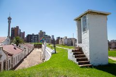 Vieille prison de fort à Johannesburg photographie stock