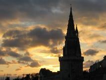 Vieille prison de La Rochelle au coucher du soleil Images libres de droits