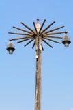 Vieille puissance Polonais en bois et lumières Photo stock