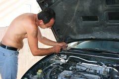 Vieille réparation de véhicule Photo stock
