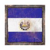 Vieille République de drapeau du Salvador Image stock