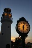 Vieille rétro horloge de rue Photographie stock