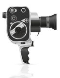 Vieille rétro illustration de vecteur de caméra vidéo de film de vintage Images stock