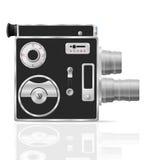 Vieille rétro illustration de vecteur de caméra vidéo de film de vintage Photographie stock libre de droits